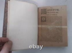 1694 RARE GAZETTE de FRANCE DITE RENAUDOT ANNEE COMPLETE RELIEE