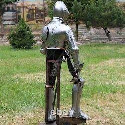 16GA Complet Suit De Armor, 16th Cen. Wearable Knight Armure Jeu Rôle XP22