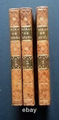 1782 MORALE de SENEQUE en 3 tomes (complet), Collection des moralistes anciens