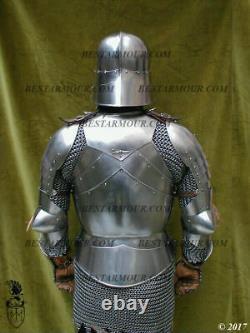 18GA Sca Jeu de Rôle Médiévale Complet Corps Armor Suit Avec / Plastron