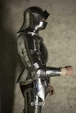 18GA Sca Jeu de Rôle Médiévale Complet Corps Gothique Armor Suit Avec Et / Gant