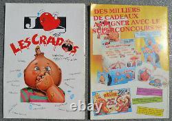 2 albums type PANINI LA BANDE DES CRADOS + LES CRADOS 2 complets! 1989 Avimages