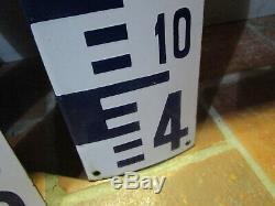 5 plaques émaillées échelle de crue échelle limnimétrique complète 5m