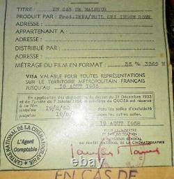 6 bobines film complet 35 mm EN CAS DE MALHEUR Brigitte Bardot Jean Gabin 1958