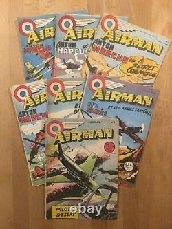 AIRMAN Collection complète des 7 numéros 1953/54 TBE