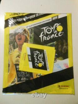 ALBUM PANINI TOUR DE FRANCE 2019 COMPLET + SET UPDATE + Range cartes + pochette