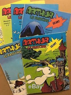 ARTHUR LE FANTÔME Collection complète des 6 numéros parus 1977/78 NEUF