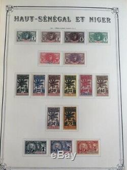 AVO! 1136 COLONIES collection de timbres Haut Sénégal et Niger complète taxe