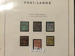 À VOS OFFRES! 736 COLONIE collection de timbres Port Lagos TB complète