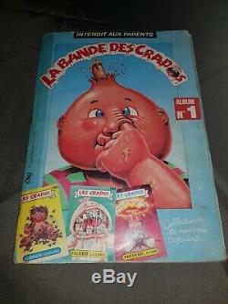 Album rare et complet 100% Les Crados La Bande Des Crados numéro 1 cartes