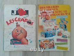 Albums complet Crados 1 et 2 avec les dos des étiquettes