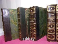 Alfred de Musset. Ouvres complètes 10/10 Reliures de Bordes. Ed. Lemerre 1876
