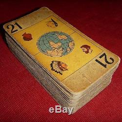 Ancien Tarot Willeb jeu 78 de carte à jouer COMPLET french telling cards VINTAGE