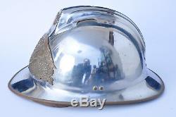 Ancien casque pompier de la marine modèle 1933 complet marine firefighter helmet