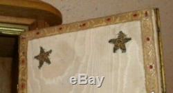 Ancien tabernacle/ porte bronze/ objet de devotion/ religion/ complet + clef