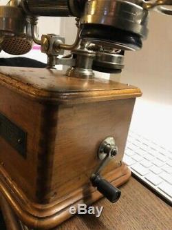 Ancien telephone de l etat modele annee 1910 Complet