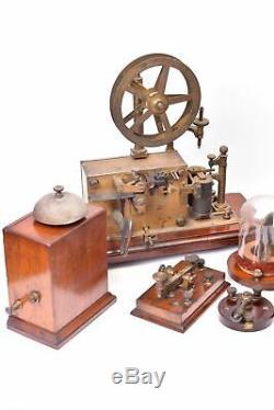 Appareil scientifique Ensemble complet de télégraphie Bréguet. Exceptionnel