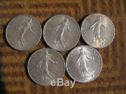 Argent Collection Complete Des 23 X 1 Francs Semeuse De 1898à1920 Sauf La 1914c