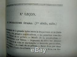 BELLE COLLECTION COMPLETE DE 8 OUVRAGES DU XIXème SIECLE SUR LE CATECHISME