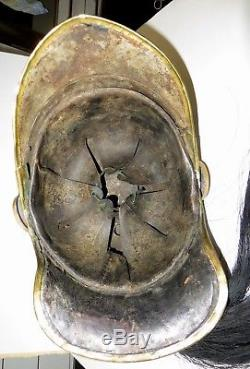 Beau casque de Cuirassier modèle 1872-74, Troupe, matriculé, complet bien jus