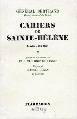 C1 NAPOLEON General BERTRAND Cahiers de SAINTE HELENE Complet des 3 Tomes