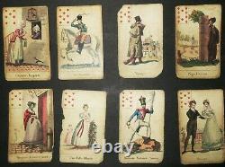 CARTES DU DESTIN aux DAMES RARE & ANCIEN JEU COMPLET de 32 CARTES Début XIXè