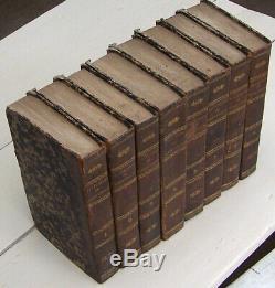 CATECHISME de PERSEVERANCE 1838/39 8 voL. Reliés complet BE Abbé GAUME religion