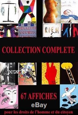 COLLECTION COMPLETE 67 affiches du Bicentenaire de la Révolution Française