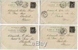 CPA AFFAIRE DREYFUS Procès de Rennes (Americ) Série complete de 30 1899