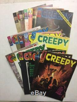 CREEPY Collection complète des 30 numéros TBE