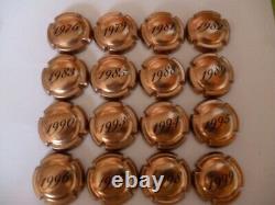 Capsules de champagne LANSON, série complète de 16 millésimes, très rare