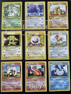 Cartes Pokemon Set De Base Edition 1 Complet Hors Holos Proche Du Neuf FR