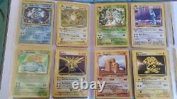 Cartes pokemon set de base de 1999 100% complet 102/102 version anglaise anglais