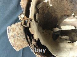 Casque allemand WH complet impacté poche de Falaise