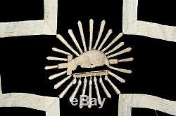 Chasuble de prêtre Romaine complète en velours bleu noir XIXe Siècle