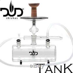 Chicha Narguilé XXL en verre DUD Tank Black Serie Complète Haut de Gamme