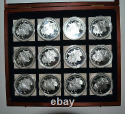 Coffret collection complet 12 Médailles Histoire de la monnaie Française