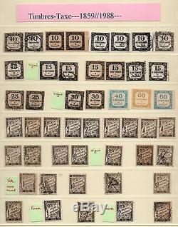 Collection COMPLETE des TAXES DE FRANCE, cote ENORME, voir les 6 scanns