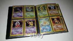 Collection Cartes Pokemon Set de Base COMPLET dont Dracaufeu 1ED Wizard FR