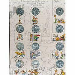 Collection Complète 24 Pièces 10 euro ASTERIX et les valeurs de la républiqu