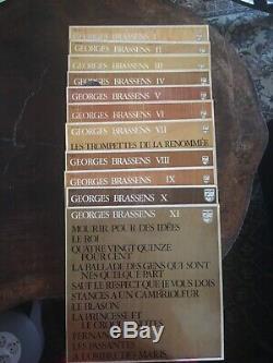 Collection Complète De 11 Vinyles George Brassens