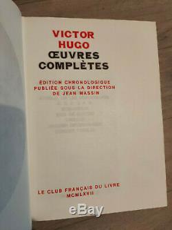Collection Oeuvres Complètes de Victor Hugo en 18 volumes Édition 1969