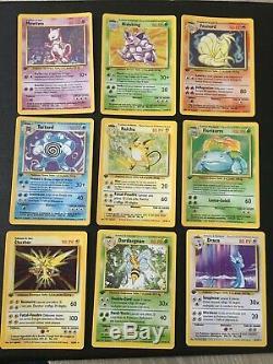 Collection Pokémon complète set de base Edition 1 FR, dracaufeu, tortank