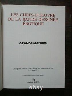 Collection complète CHEFS D'OEUVRE DE LA BD EROTIQUE Rombaldi 15 volumes