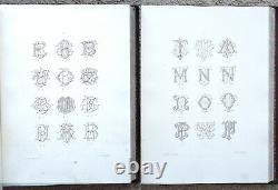 Collection complète Chiffres et Monogrammes, Renoir, élève de Daniel graveur