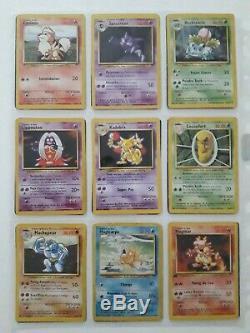 Collection complète carte Pokémon Set de base