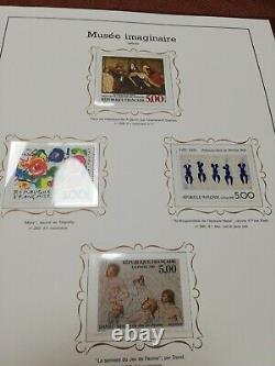 Collection complète de 260 timbres, tableaux musée imaginaire, de 1961 à 2012