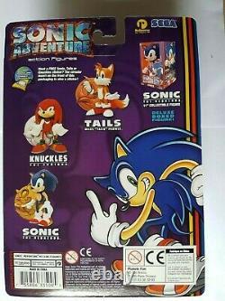 Collection complète de 3 figurines ReSaurus Sonic Adventure 1999 (neuves)