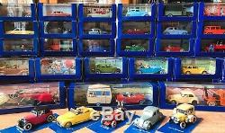 Collection complète de 70 voitures miniatures Tintin, Collection Atlas