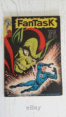 Collection complète des Fantask 1 a 7 année 1969 (avant Strange)